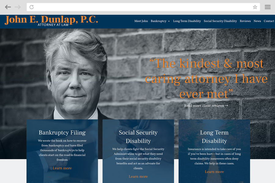 Law Firm Marketing Case Study - John E. Dunlap, P.C.