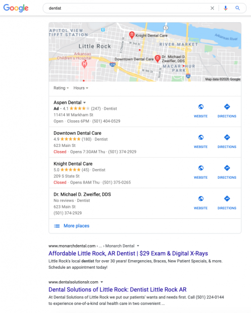 localized search results for local seo