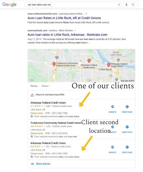 geomodified local search results for local seo