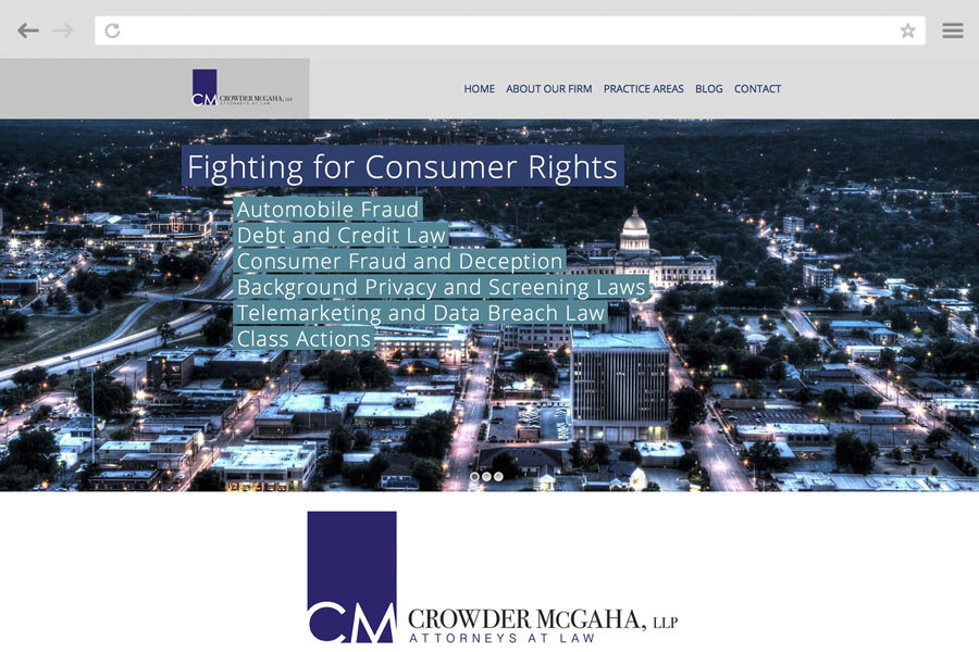 Law Firm Marketing Case Study - Crowder McGaha, LLP