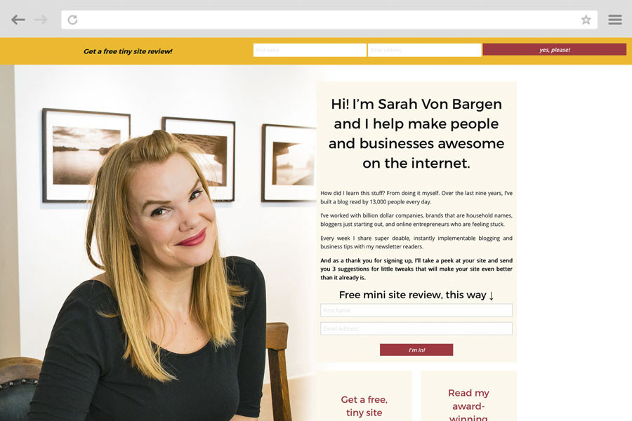 Small Business Marketing Case Study - Sarah Von Bargen